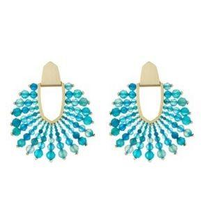 Kendra Scott Diane Beaded Agate Statement Earrings
